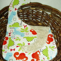 Dinosaur Baby Bib by BrennysBibbies on Etsy