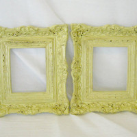 Antique French Shabby Chic Ornate Frames in Straw by BBlaeser