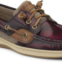 Sperry Top-Sider Ivyfish 3-Eye Boat Shoe CordovanBrown, Size 5M  Women's Shoes