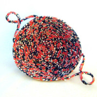 A Slice of Watermelon Basket Fabric Coiled by NewEnglandQuilter