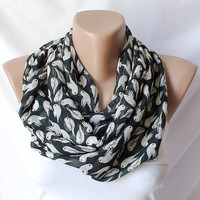 Bird is flyingInfinity Loop Scarf Chiffon Scarfbirds by Periay