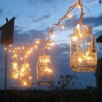 Mason-jar party lights
