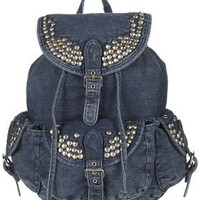 Studded Denim Backpack - New In This Week  - New In  - Topshop