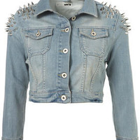 MOTO Shoulder Spike Jacket - Topshop