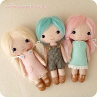 Cotton Candy Dolls Pdf Pattern | Luulla
