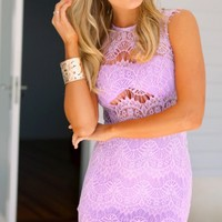 ALWAYS AND FOREVER (LIL) - lilac lace dress