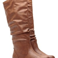 Cognac Go-To Slouch Boot @ Cicihot Boots Catalog:women's winter boots,leather thigh high boots,black platform knee high boots,over the knee boots,Go Go boots,cowgirl boots,gladiator boots,womens dress boots,skirt boots.
