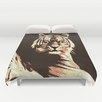 Tiger Duvet Cover by Paula Belle Flores | Society6