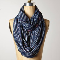 Indigo Isle Infinity Scarf by Anthropologie Blue Motif One Size Scarves