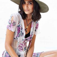 Corded Wide-Brim Straw Hat - Urban Outfitters
