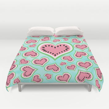 Watermelon Love... Duvet Cover by Lisa Argyropoulos | Society6