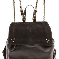 Florent Caviar Noir and Noir Velvet Bag