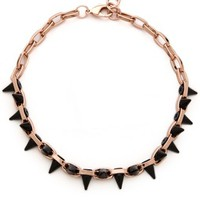 Black Out Double Row Spike Choker