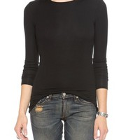 Long Sleeve Micromodal Crew Neck Tee