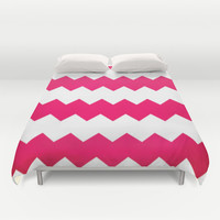 chevron pink Duvet Cover by  Alexia Miles photography