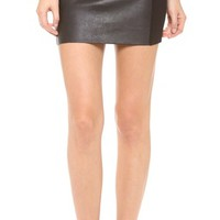 Jessica Leather Skirt