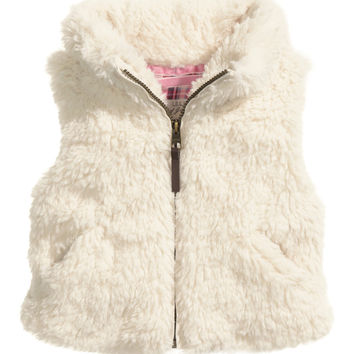 H&M - Pile Vest - Natural white - Kids