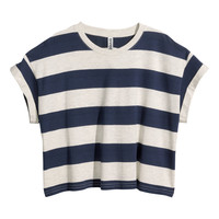 H&M - Cropped Jersey Top -