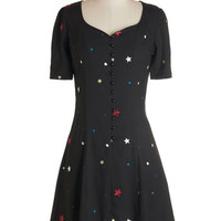 Hit the Right Note Dress in Stars