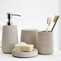 Stoneware Bath Accessories