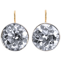 Antique 6.11 Carats Old European Cut Diamond Earrings