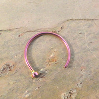 Purple Nose Hoop Rings
