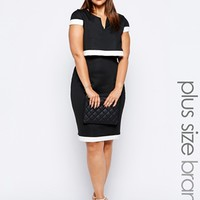 Lipstick Boutique Plus 2 in 1 Cape Pencil Dress