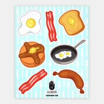 Breakfast Food Stickers