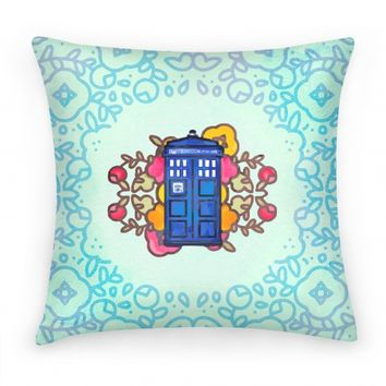 Watercolor Doctor Who Icon (Tardis)