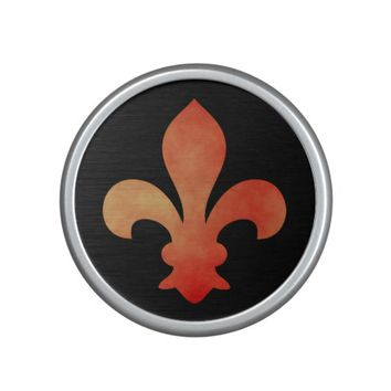 Red Gold Fleur de Lis Bluetooth Speaker