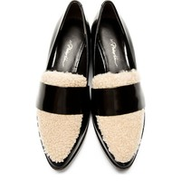 Black Shearling Accent Quinn Loafers
