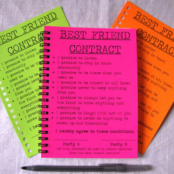 SPECIAL EDITION- Best Friend Contract- Your Choice Neon