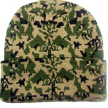 """Army Grid"" Beanie by Marialia (Camo)"