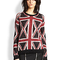 The Kooples - Union Jack Sweater - Saks Fifth Avenue Mobile
