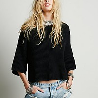 Free People Womens Ryanne Crew Neck Pullover -