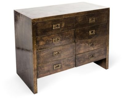 One Kings Lane - Kelly Wearstler: California Coastal Living - Plated Brass Chest of Drawers