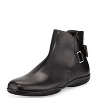 Prada Chelsea Grip-Strap Boot, Black