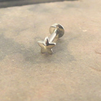 Tiny Silver Star Cartliage Earring Tragus Helix Piercing