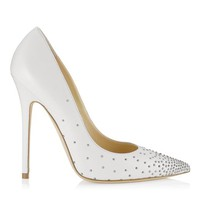 White Nappa Pointy Toe Pumps with Studs | Cruise 2013 | JIMMY CHOO Shoes