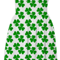St. Patrick's Day Dress with shamrocks created by circusvalley | Print All Over Me