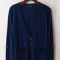 Borrowed From The Boys Cardigan, Navy
