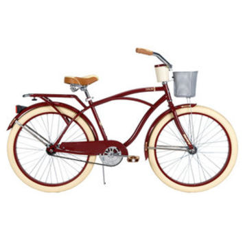 Walmart: Huffy Deluxe Men's Cruiser Bike with Basket and Beverage Holder