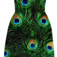 peacock dress created by bunny noir | Print All Over Me
