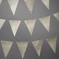 Parchment Pennant Garland in  the SHOP Decor Decorating at BHLDN