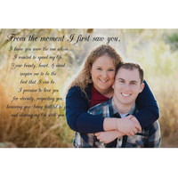 Personalized wedding vows print- wedding vows custom, wedding canvas photo, song lyrics canvas, canvas anniversary, bride groom canvas