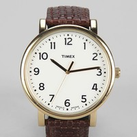Timex Original Woven Leather Watch - Urban Outfitters