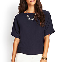 Boxy Georgette Dolman Top