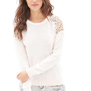 Crochet Cable Knit Sweater