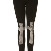 Cross Knee Leggings - New In This Week  - New In  - Topshop