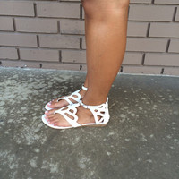 White Tale Sandals